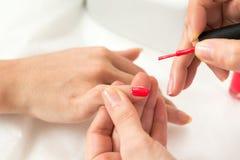 Manicure process shot Stock Photo