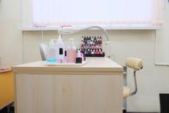 Manicure room interior Royalty Free Stock Photos