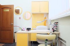 Manicure room interior Royalty Free Stock Photography