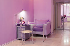 Manicure room in a modern beauty salon Royalty Free Stock Photography