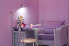 Manicure room in a modern beauty salon Stock Images