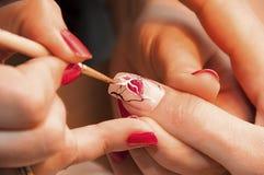 manicure Rysować wzór Obrazy Royalty Free