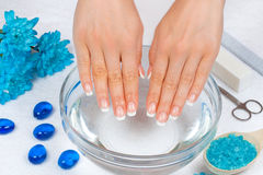 Manicure salon Royalty Free Stock Images