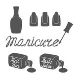 Manicure salon label. Stock Photography