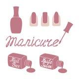 Manicure salon label. Stock Image