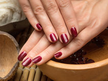 manicure in the salon spa Stock Images