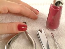 Manicure set Stock Photo
