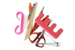 Manicure Set. On White Background stock image