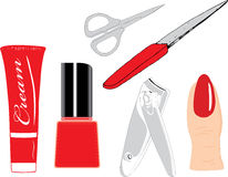 Manicure set. Everything what can be needs for manicure Stock Images