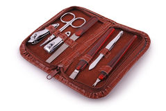 Manicure set (Clipping path) Royalty Free Stock Images