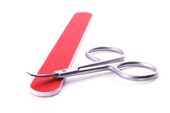 Manicure set - scissors and file Stock Images