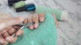 Manicure, stazione termale, salone, bellezza, modo, trattamenti, cura di pelle della mano, unghia fotografia stock libera da diritti