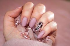 Manicure in stijl - liefde Royalty-vrije Stock Fotografie