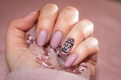 Manicure in style - love Royalty Free Stock Photography