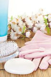 Manicure supplies Royalty Free Stock Photo
