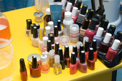 Manicure table Royalty Free Stock Photos