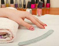 Manicure table Stock Photography