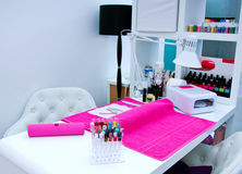 Manicure table Stock Photos