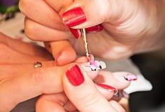 manicure TARGET870_1_ obrazek Zdjęcia Royalty Free