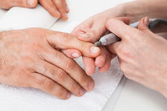 Manicure to beauty salon Stock Photo