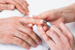 Manicure to beauty salon Stock Image