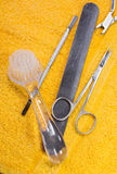 A manicure tool kit. Royalty Free Stock Photos
