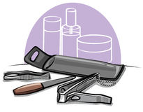 Manicure tools Royalty Free Stock Image