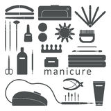 Manicure tools set Royalty Free Stock Photography