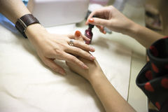 Manicure treatment Royalty Free Stock Image
