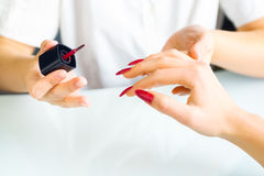 Manicure treatment Stock Images