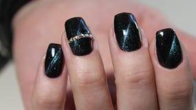 manicure'u gel z kota okiem Zdjęcia Stock