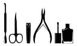 Manicure'u gwoździa cążki Zdjęcie Stock