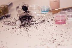 Manicure'u i pedicure'u narzędzia, błyskotliwość Zdjęcia Royalty Free