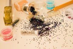 Manicure'u i pedicure'u narzędzia, błyskotliwość Obrazy Stock