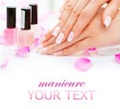 Manicure'u i ręk zdrój Obraz Royalty Free