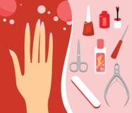 Manicure'u set royalty ilustracja
