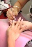 Manicure'u traktowanie Obrazy Royalty Free