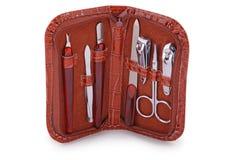 Manicure ustawiający (ścinek ścieżka) Zdjęcie Stock