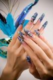 Manicure van vingers van handen Stock Foto's