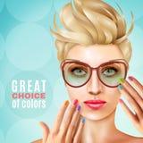 Manicure Vrouwelijk ModelBackground vector illustratie
