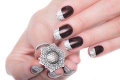 manicure Vrouwelijke handenclose-up Royalty-vrije Stock Afbeelding