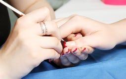 Manicure w toku Zdjęcie Stock
