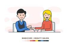 Manicure wektorowa płaska ilustracja EPS10 ilustracji