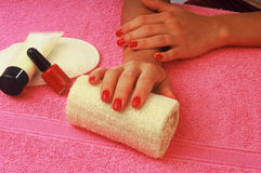 Manicure woman Stock Photos
