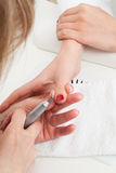 Manicure woman close-up Stock Photo