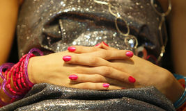 Manicure women hand Stock Images
