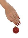 Manicure z czerwonymi piłkami Fotografia Royalty Free