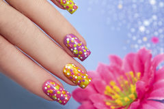 Manicure z punktami obrazy royalty free