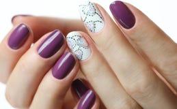 Manicure z sercem Fotografia Royalty Free