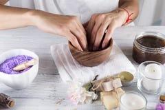 Manicurebegrepp över white - bakgrund på white Royaltyfria Foton